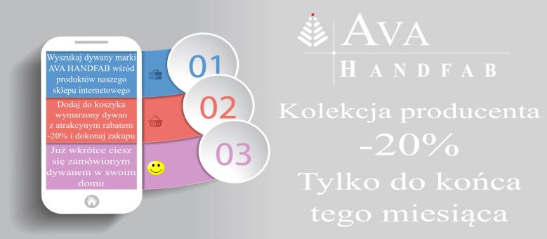 Promocja na dywany AVA HANDFAB -20%